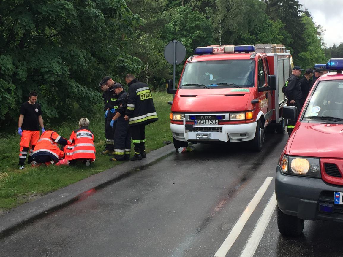 Tragiczny wypadek na drodze wojewódzkiej nr 235 niedaleko Chojnic